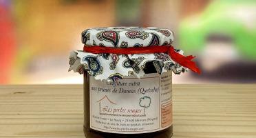 Les Perles Rouges - Confiture Extra Aux Prunes De Damas (quetsche)