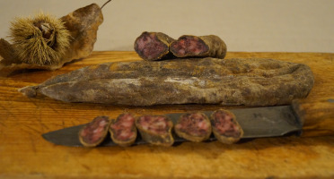Charcuterie Mannei - Ficatellu Sec Fermier de Porc Noir Nustrale - en Morceau