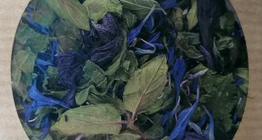 Les Jardins du Mas de Greil - Ortie-bleuet-menthe-mauve, Tisane Composée