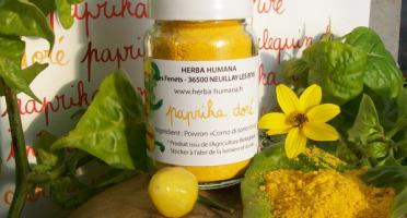 HERBA HUMANA - Paprika Doré Cultivé en France 35g