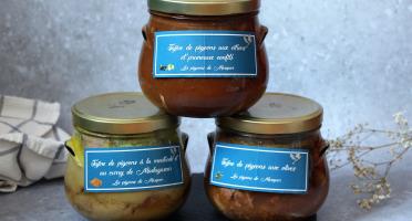 Les Pigeons de Mesquer - Lot Tajine de Pigeons : Moutarde et Curry de Madagascar, Citrons Pruneaux Confits et Olives