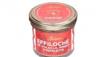 Bellorr – Maison de Qualité - Effiloché de volaille de Racan au piment d'Espelette - 80 g  - 80g