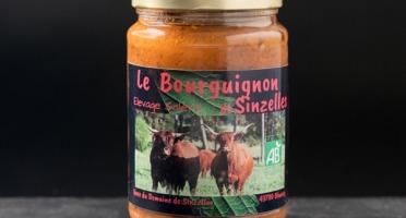 Domaine de Sinzelles - Bourguignon Cuisiné de Bœuf Race Salers BIO - Bocal de 700 g
