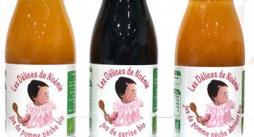 Les délices de Noémie - Assortiment Jus De Pomme Pêche Bio, Cerise Bio, Pomme Pêche Abricot Bio