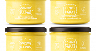Comme des Papas - Lot De 4 Pots Bébé Dès 15 Mois - Egrainé De Quinoa, Dinde, Potiron Et Pomme
