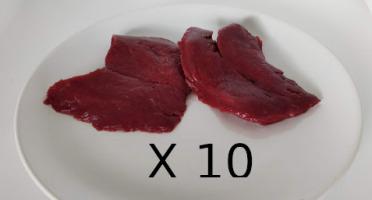 La Ferme Enchantée - Lot de 10 steaks d'autruche conditionné par 2