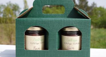 Le Ziboud'Terre - Producteur de figues - Coffret cadeau ConFigue de Figue Noire BIO 100 g - 3 pots
