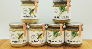 Robin des Bio - Petit pot bébé Bio et Locaux - 3x Courgette Aneth - 3x Poireau Navet (dès 7 mois)
