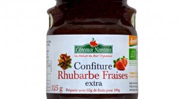 Les Côteaux Nantais - Confiture Rhubarbe Fraises Extra 325g Demeter