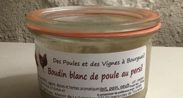 Des Poules et des Vignes à Bourgueil - Boudin Blanc De Poule au persil