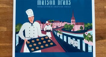Biscuiterie Maison Drans - Boîte Fer Garnie De Sablés Au Beurre Aop 1000g - Bleu Marine