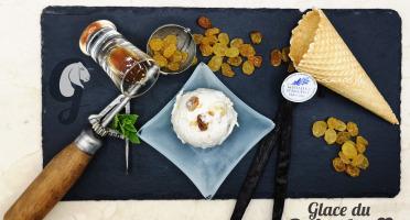 Glace du Geisshoff - Malaga Rhum Raisin Crème Glacée Fermière au Lait de Chèvre 750 ml