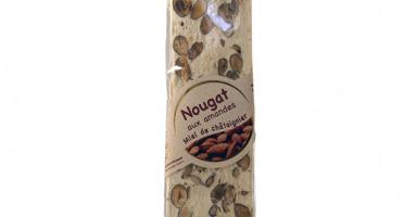 Les amandes et olives du Mont Bouquet - Nougat blanc 100 g - miel chataignier