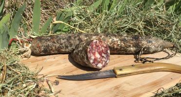 Depuis des Lustres - Comptoir Corse - Saucisson Porc Nustrale Entier - 550 g