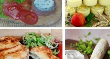 """Ferme du caroire - Repas Complet """"les Pieds Sous La Table"""" : Entrée, Plat, Fromage Et Dessert (4 Personnes)"""