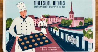 Biscuiterie Maison Drans - Boîte Fer Garnie De Sablés Au Beurre Aop 500g - Bleu Ciel
