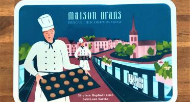 Biscuiterie Maison Drans - Boîte Fer Garnie De Sablés Au Beurre Aop 500g - Bleu Marine