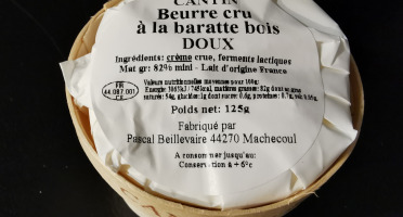 La Fromagerie Marie-Anne Cantin - Bourriche De Beurre Cru À La Baratte Doux - 125 Gr
