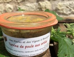 Des Poules et des Vignes à Bourgueil - Terrine De Poule Aux Orties