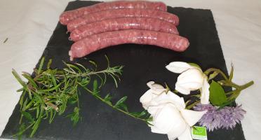 La Ferme du Montet - Chipolatas aux 5 baies de Porc Noir Gascon BIO - 200 g
