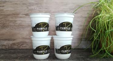 Laiterie de Pamplie - Lot De 4 Yaourts Brassés Nature Sucré Au Lait Entier
