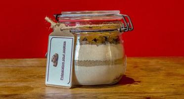 Moulin de Mirebeau - Preparation En Bocal Pour Cookies Aux Chocolat Et Aux Raisins