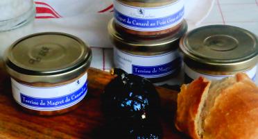Alban Laban - Terrine de magret de canard au foie gras et figues 100g