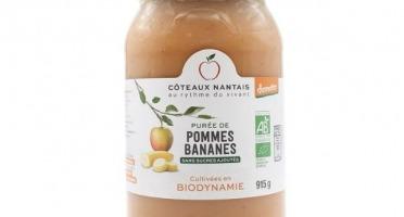 Les Côteaux Nantais - Purée Pommes Bananes 915g BIO Demeter