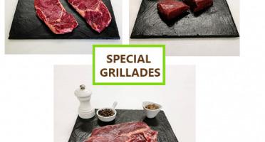 Bisons d'Auvergne - Colis Barbecue Grillades de Bison: entrecôtes, basse-côtes et pavés (2kg)