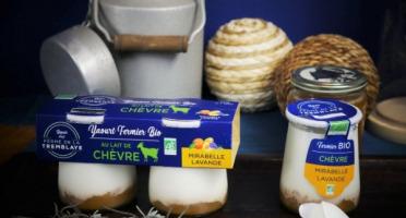 Ferme de La Tremblaye - Yaourt De Chèvre Fermier Bio À La Mirabelle & Lavande  2 Pots