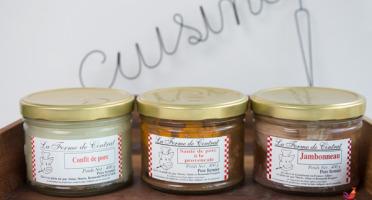 La Ferme de Cintrat - 3 plats cuisinés : confit, jambonneau et sauté de porc à la provençale