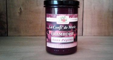 Le Domaine du Framboisier - Confiture allégée en sucre Framboise Sans Pépins 250g