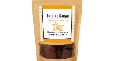 Maison Castelanne Chocolat - Pistole Couverture 150gr Fèves cacao origine BIO
