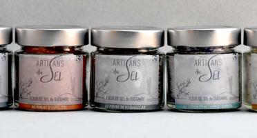 Artisans du Sel - Lot De 5 Verrines De Fleur De Sel De Guérande Aromatisée