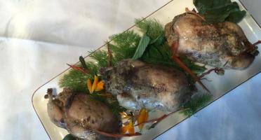 Des Poules et des Vignes à Bourgueil - 3 Cailles Farcies Au Foie Gras De Canard