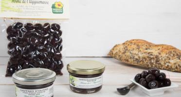 La Ferme de l'Ayguemarse - Apéro Olive Noire de Nyons : olives, chutney, tapenade
