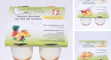 La Bergerie d'Ayze - Le Panier Fruits Jaunes (12 Yaourts)