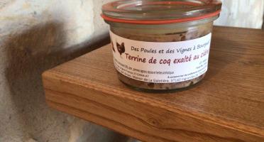Des Poules et des Vignes à Bourgueil - Terrine de coq exalté au cidre