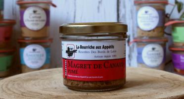 La Bourriche aux Appétits - Rillettes de Magret de Canard Fumé 90g