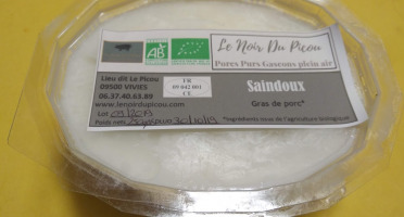 Le Noir du Picou Elodie Ribas - Saindoux