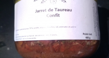 Les Délices du Scamandre - Jarret De Taureau Confit - 400 G