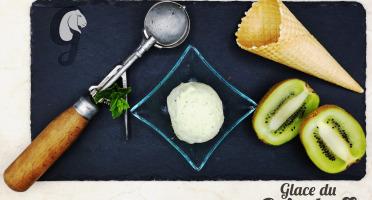 Glace du Geisshoff - Kiwi Crème Glacée Fermière au Lait de Chèvre 750 ml