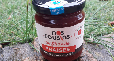 Nos cousins Conserverie - Confiture De Fraises - Infusion Menthe Chocolat 240g