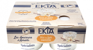 Bastidarra – Ekia - Riz au lait vanille  4*100gr