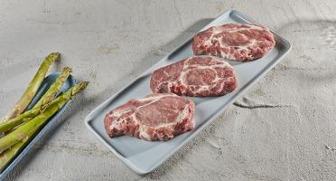 BEAUGRAIN, les viandes bien élevées - Côte échine de Porc Bio d'Auvergne
