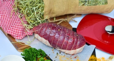 Michel et Alain Fermiers BIO - [SURGELE] Pack Cuisson au Foin : Rôti de Bœuf BIO + Foin