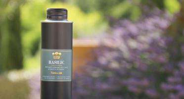 Moulin à huile Bastide du Laval - Huile D'olive Au Basilic Bio 25cl Bidon