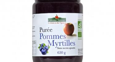 Les Côteaux Nantais - Purée Pommes Myrtilles 630g