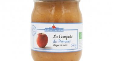 Les Côteaux Nantais - Compote Pommes Allégée en Sucres 540g