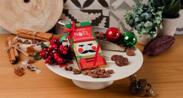 Le Petit Atelier - Étui De 4 Sucettes Père Noel Chocolat Noir Bio